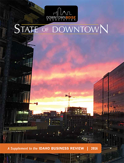 Click the cover image to view the 2016 State of Downtown Digital Edition
