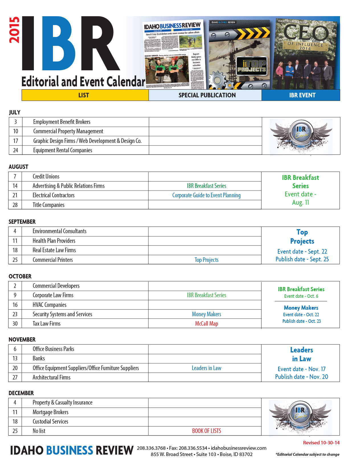Editorial & Event Cal side 2