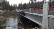 A view of the Lardo Bridge, which was completed this year. Photo courtesy of the Idaho Transportation Department.