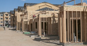 Homes under construction. File photo.