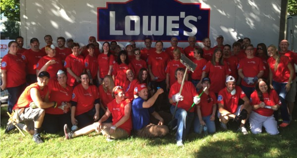 Lowe's Heroes is a company-wide volunteer initiative that offers Lowe's employees the opportunity to work on a project in their own neighborhood, helping to make their communities better places to live, work and play. photo courtesy of the Women's and Children's Alliance.
