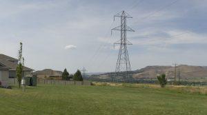 An Idaho Power transmission line near East Boise. Photo courtesy of Idaho Power.
