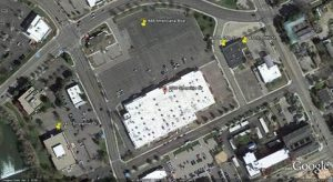 The St. Luke's-Boise Hawks deal includes the former Kmart property (center), the Shoreline Center (left bottom) and the former Total Woman Fitness and Beehive Salon properties (top right). Image courtesy of St. Luke's Health System.